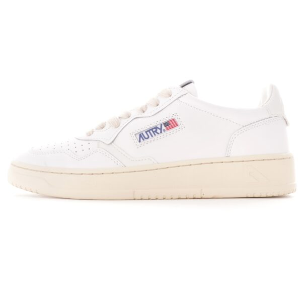 autry goat skin white sneakers